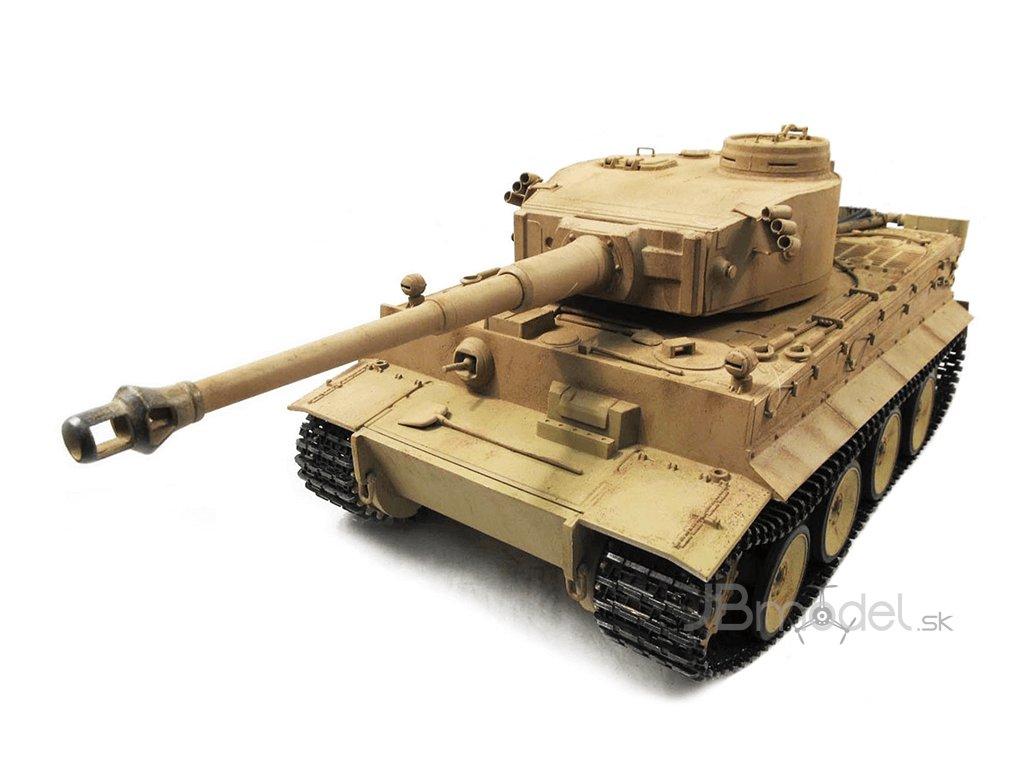 RC tank Tiger I Metal RTR TRUE Sound - 2.4Ghz proporcionál, Desert Yellow