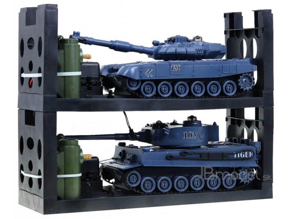 Súbojové infra tanky 2v1 T-90 vs King Tiger 1:28, 2.4Ghz