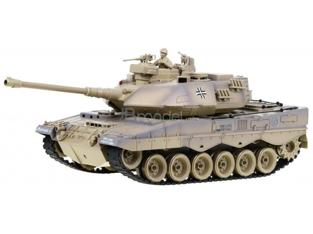 RC tank Leopard II pieskový 1:18