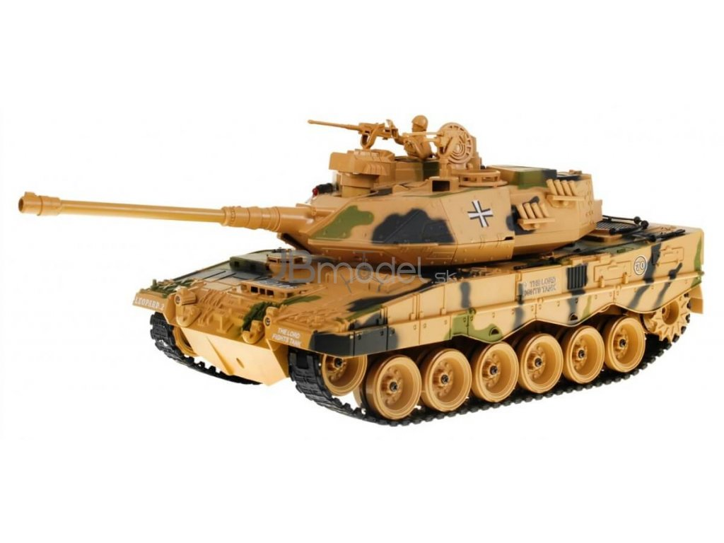 RC tank Leopard II kamufláž 1:18