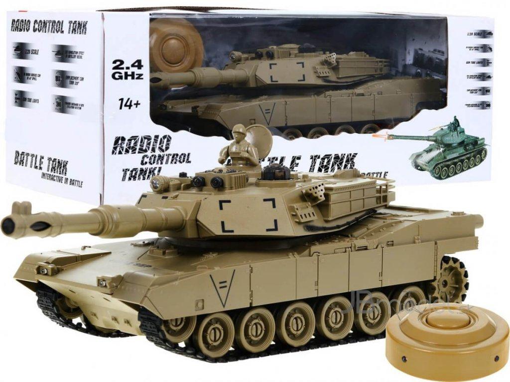 RC tank Abrams M1 1:28 2.4 GHZ infra