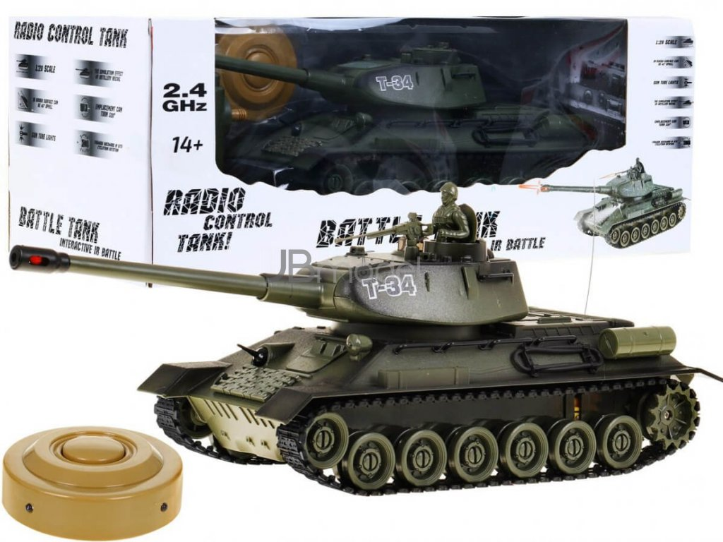 RC tank T-34 1:28 2.4 GHZ infra
