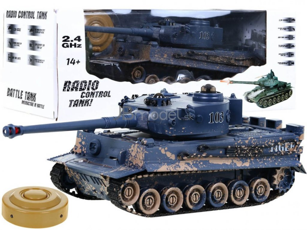 RC tank TIGER kamufláž 1:28 2.4 GHZ infra