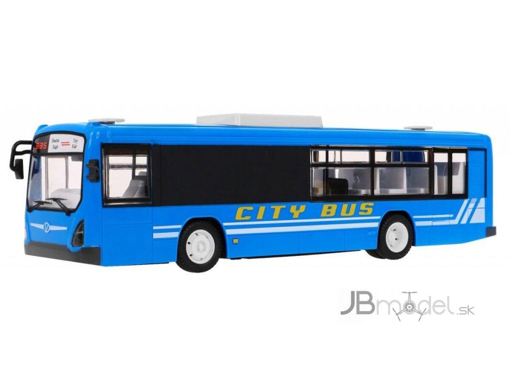 RC AUTOBUS S OTVÁRACÍMI DVERAMI 33CM modrý
