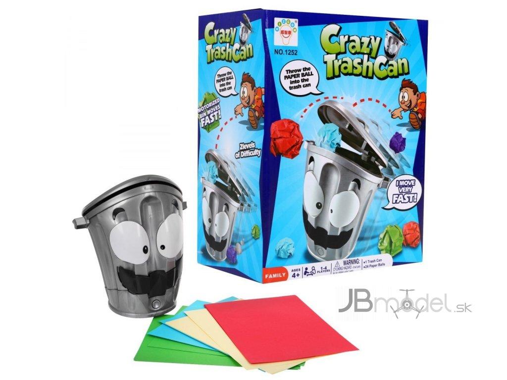 Hra Crazy košík na odpadky