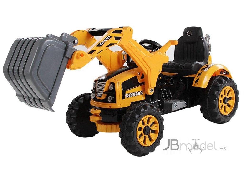 Elektrický detský traktor s radlicou 12V