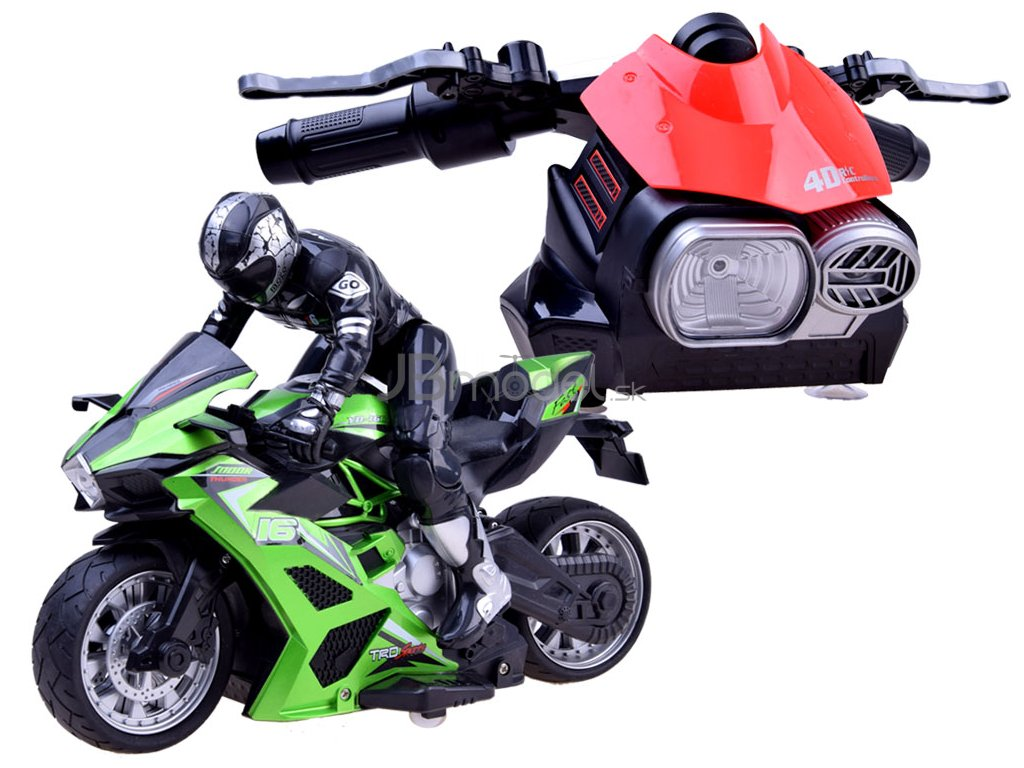 RC motorka s unikátnym ovládačom