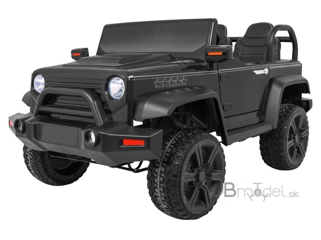 Elektrické autíčko Jeep Wrangler BAND OF BROTHERS 4x45W čierne