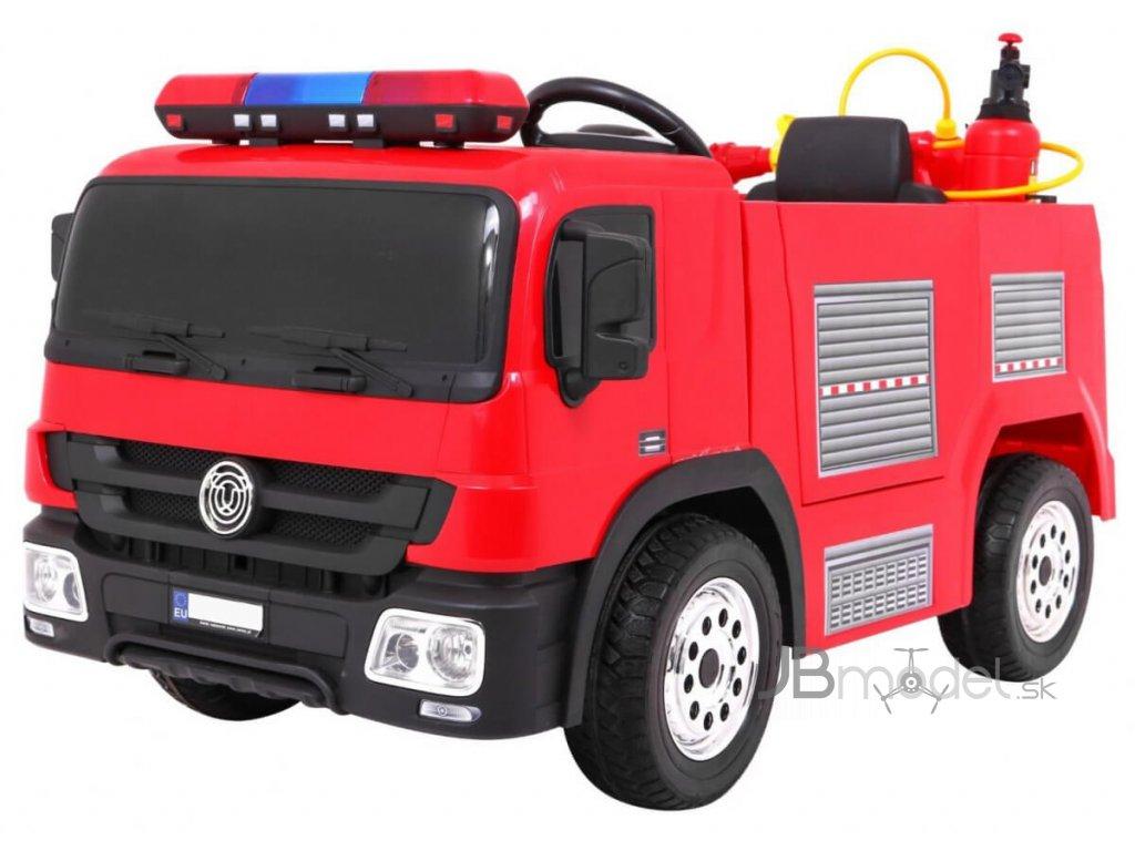 Elektrické autíčko USA hasiči s majákmi a vodným delom
