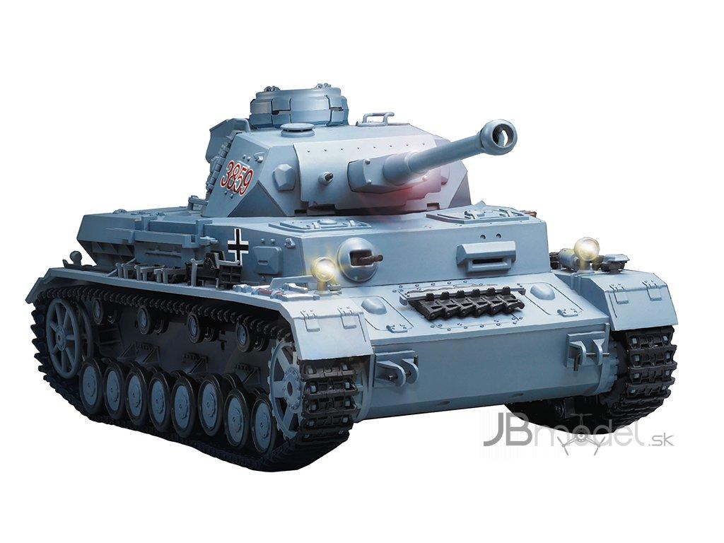 RC tank Panzer IV F2SD 1:16 - airsoft, dym, zvuk, QC, drevená bedňa
