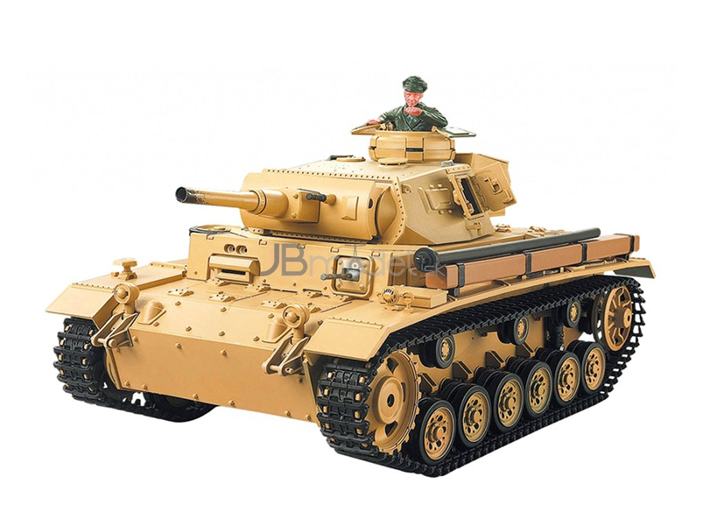 RC tank Tauchpanzer III 1:16 - airsoft, dym, zvuk, QC, drevená bedňa