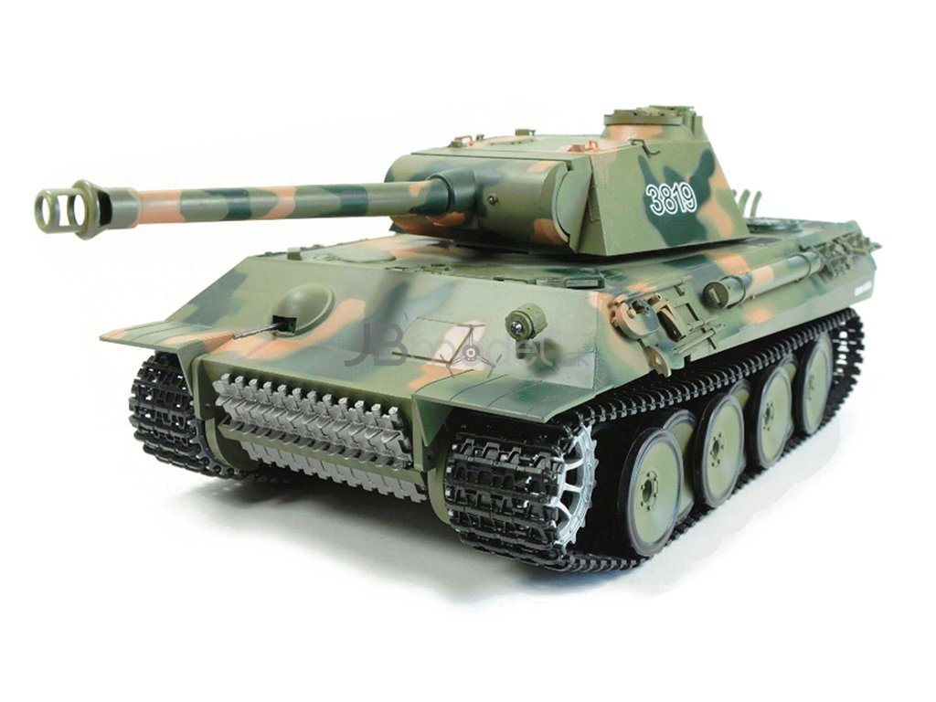 RC tank HL Panther 1:16 - airsoft, dym, zvuk