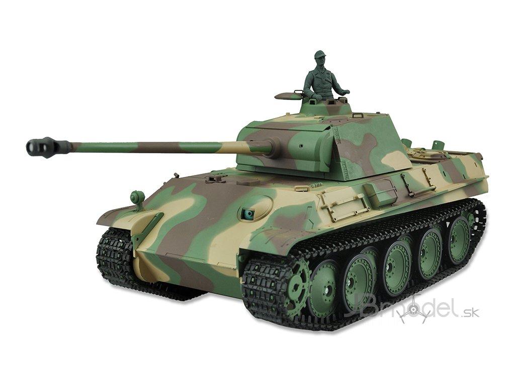 RC tank Panther G 1:16 - airsoft, dym, zvuk, QC, drevená bedňa