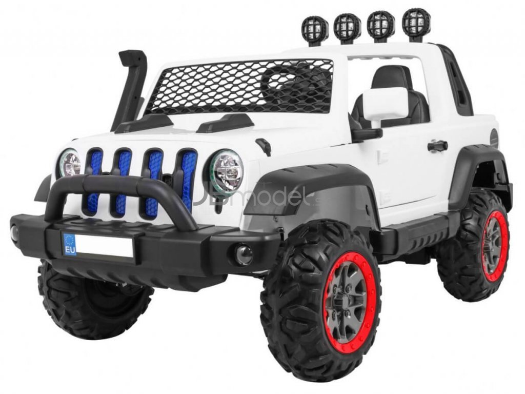 Elektrické autíčko Jeep All Road 4x45W biela