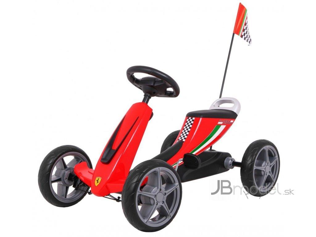 Gokart na pedály Ferrari červený
