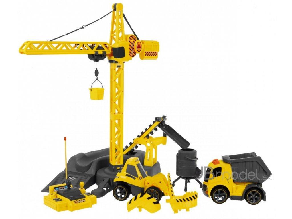 RC žeriav a nákladné autá RTR 1:1