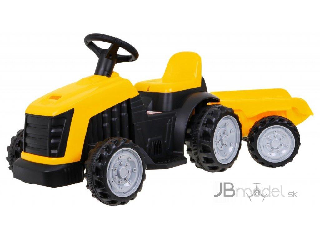 JBM Elektrický traktor pre deti s prívesom 1x25W žltý