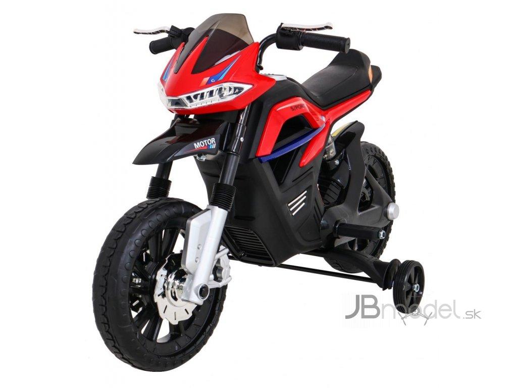 Elektrická detská motorka Night Rider červená