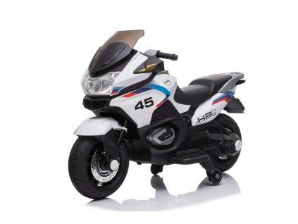 Elektrická detská motorka Motor Sport Tourism biela