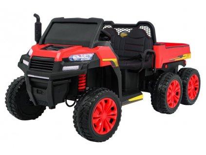 Elektrické autíčko FARMER 4x35W červené