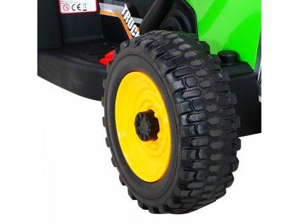 Elektrický detský traktor BLOW 2x25W zelený