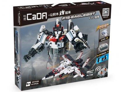 RC stavebnica Robot/stíhačka 2v1 CADA C51030W RTR 1:1