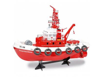 RC hasičská loď Feuerlöschboot TC-08 s vodným delom RTR 1:1