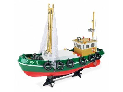 RC rybárska loď Cux-15 s ovládanými sieťami RTR 1:1