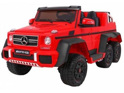 Elektrické autíčko Mercedes G63 AMG 6x45W červená