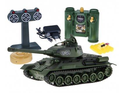 RC tank T-34 1:28 2.4 GHZ infra s terčom