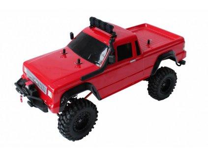 RC auto DF-4S CRAWLER XL BRUSHED 4X4 RTR 1:10 červený