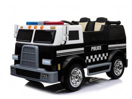 Elektrické autíčko USA polícia 2x45W s funkčným interkomom