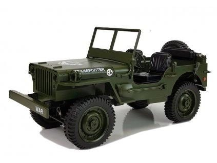 RC auto Jeep Military 4x4 RTR 1:10 zelený