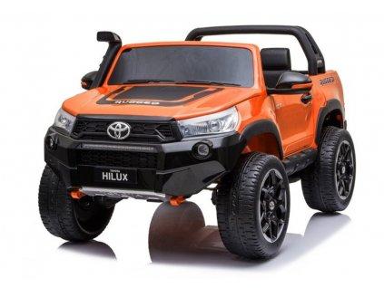 Elektrické autíčko Toyota Hillux oranžová