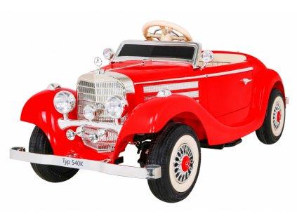 Elektrické autíčko Retro Mercedes Benz 540A 4x35W červená