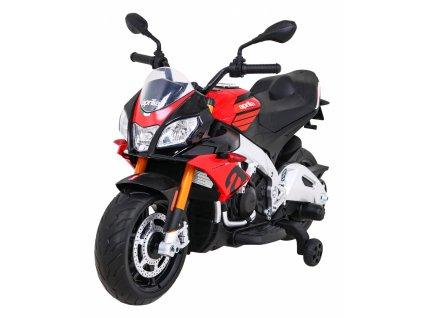 Elektrická detská motorka Aprilia Tuono V4 červená