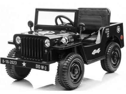 Elektrické autíčko Retro Military SMALL 4x35W čierna