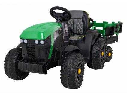 Elektrický detský traktor Titanium s vlečkou 2x45W zelený