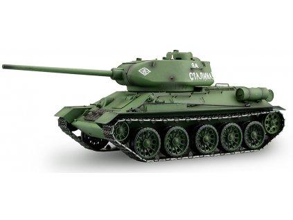 RC tank T-34/85 1:16 - airsoft, dym, zvuk, kov. prevodovka