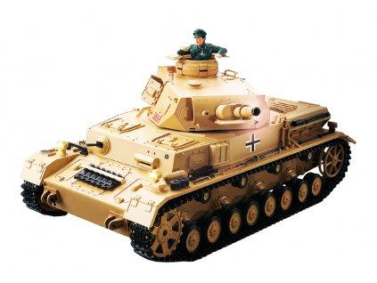 RC tank Panzer IV F1 Africacorps 1:16 - airsoft, dym, zvuk, QC, drevená bedňa