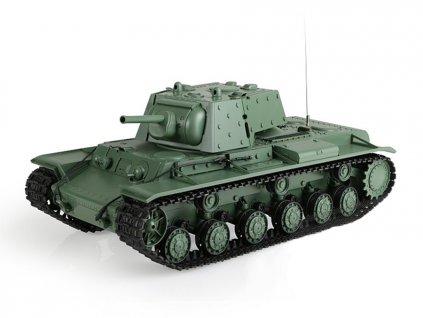 RC tank Russia KV-1's Ehkranami 1:16 - airsoft, dym, zvuk, QC, drevená bedňa
