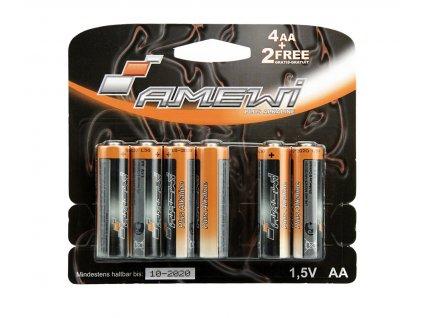 Alkalické batérie 1,5v AA (cena za 6ks)