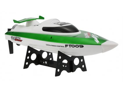 Závodný športový čln FT009 2,4 GHz ZELENÁ
