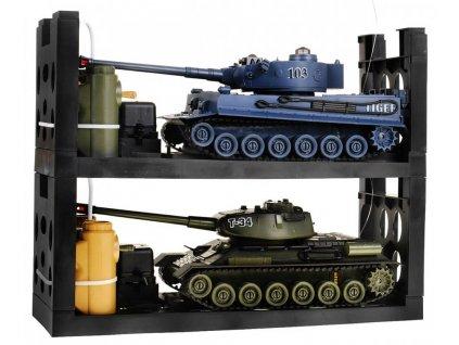 Súbojové infra tanky 2v1 Tiger vs T-34 1:28, 2.4Ghz