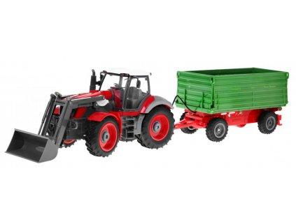 RC traktor s vlekom na diaľkové ovládanie RTR 1:28