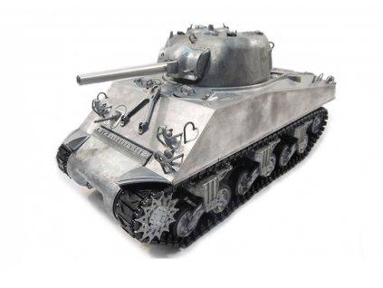 RC tank M4A3 Sherman True sound RTR - IR, 2.4 Ghz proporcionál, celokov