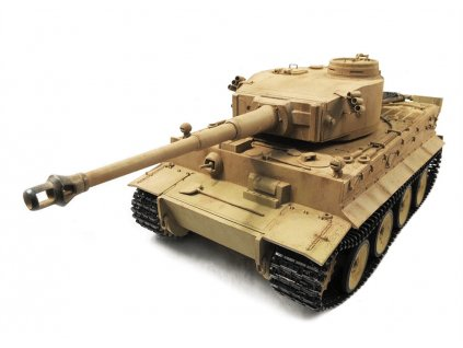 RC tank Tiger I Metal RTR TRUE Sound - 2.4Ghz proporcionál, Desert Yellow