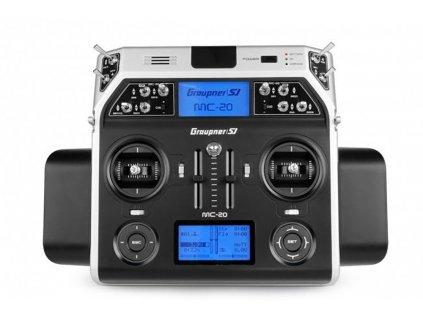 Vysielač Graupner MC-20 HoTT 2,4 GHz 12CH (prijímač GR-16, USB rozhranie, PC, puzdro, batéria, nabíjačka)
