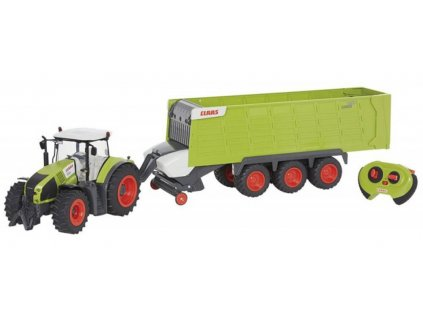 TRAKTOR AXION CLAAS 870 + príves CARGO trailer