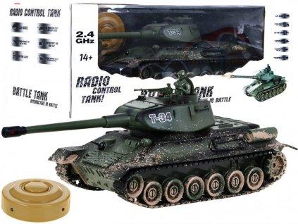 RC tank T-34 kamufláž 1:28 2.4 GHZ infra